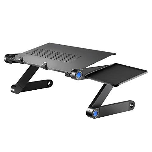 Kiss U Laptoptisch/Faltbarer Laptop Schreibtisch Bett Sofa leichten Aluminium-Legierung Tisch mit Maus-Plattform, Schräg lesbare Lesetafel für Sofa, Buch, Magazin und Frühstück