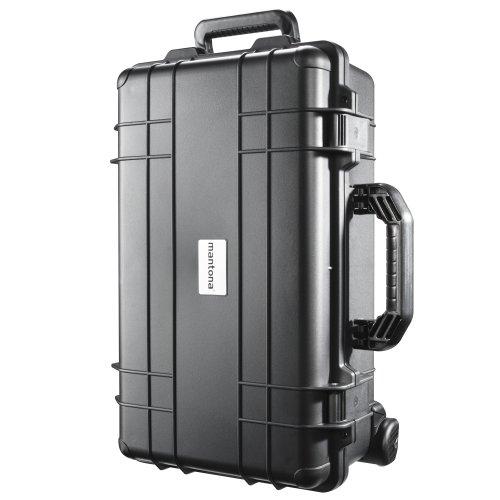 Mantona Outdoor Fotokoffer-Schutz-Trolley (wasserdicht, stoßfest, staubdicht, geeignet für DSLR Kamera, GoPro Actioncam, Foto-Equipment uvm.) schwarz