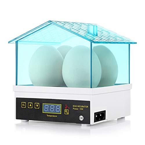 Inicio 4 STÜCKE Eier Automatische Mini Digital Huhn Ente Vogel Brut Geflügel Brutkasten Taube Wachtelei Automatische Inkubator