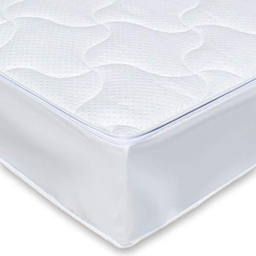Traumreiter Wasserbett-Auflage Wasserbett-Bezug Allergiker Matratzen-Bezug Ohne Wasserentleerung Jedes Wasserbett (180 x 200 cm Silver)