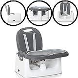 Mitwachsender Tischsitz/Sitzerhöhung/Hochstuhl mit TABLETT (GRAU)