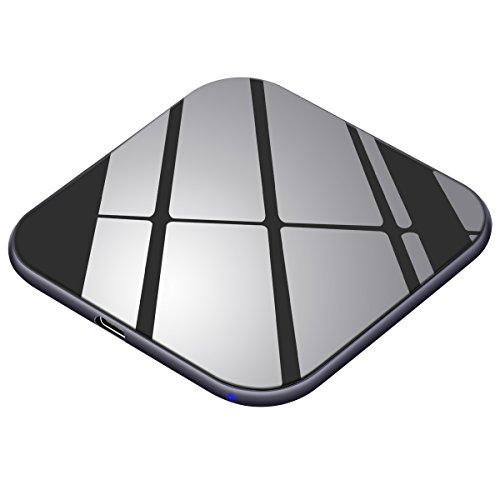 Handy Schnellladegerät Kabellos 15W, USB C, Fast Wireless Qi Ladestation 7,5W für iPhone X 8 8 plus, Induktive Schnellaufladen Drahtlos 10W für Samsung S9 S9 plus S8 S7 S6 Edge und Note 8, 5