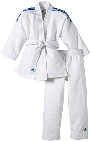 adidas Kinder Judo Anzug Evolution (inkl. Gürtel), Weiß, 160/170, J250E