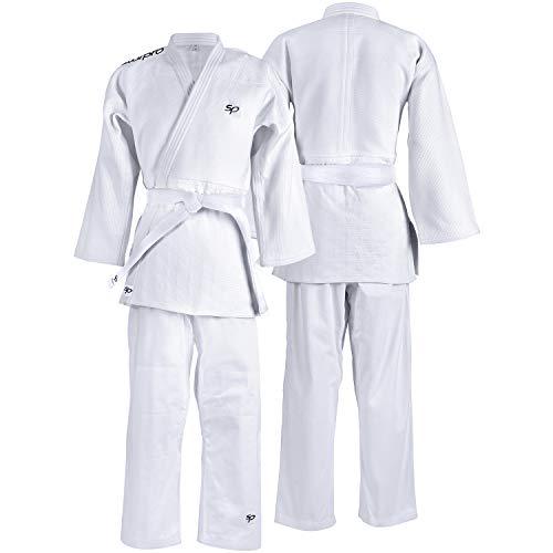 Starpro Kampfsport Karate Judo Uniform für Männer, Frauen und Kinder (White, 170cm)