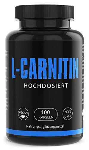 GYM - NUTRITION PREMIUM L-CARNITIN 3000 | Mega Hochdosiert | Für Die Definitionsphase und Diät | Beliebt bei Sportlern | 100 Kapseln | Vegan | Made in Germany