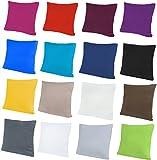 NatureMark 2er Pack Jersey Kissenbezug Kissenhülle Kissenbezüge Seitenschläferkissen Nackenkissen viele Größen und Farben ÖKO-TEX (40 x 40 cm, Anthrazit grau)