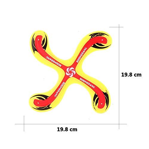 Gfone Gelb Boomerang Bumerang Fan Rund Outdoor Sport Spielzeug für Kinder ab 5 Jahre Alt und Damen Herren
