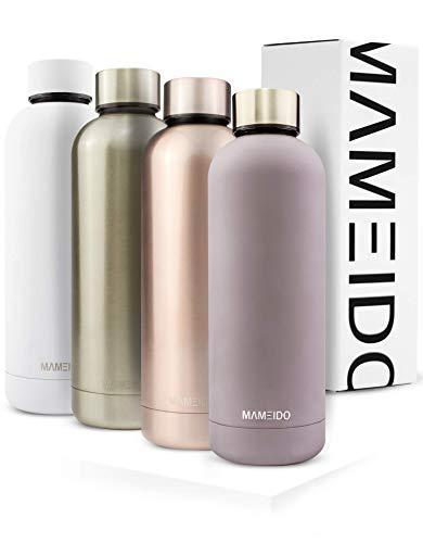 MAMEIDO Trinkflasche 500ml | Taupe Grau Matt