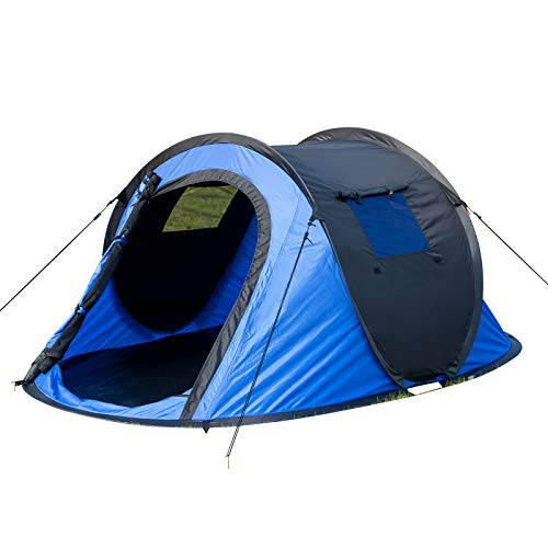 EUGAD Camping Pop Up Zelt Outdoor-Zelt für 2-3 Personen Wurfzelt Sekundenzelt wasserdicht mit Tragetasche 145x240x100cm Blau