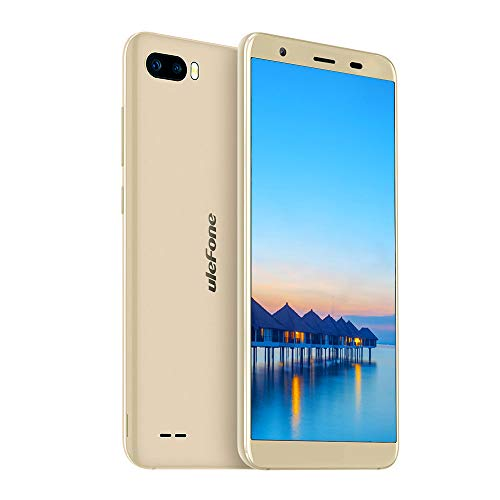 Ulefone S1 Handy ohne Vertrag Günstig 5,5 Zoll Touch Display mit Metallrahmen, Android Go Dual SIM Smartphone 8GB ROM 64GB erweiterbar, Gesichtserkennung 8MP+5MP+5MP Kamera, 3000mAh Akku - Gold