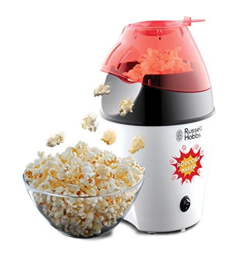 Russell Hobbs Fiesta Popcornmaschine 24630-56 / Heißluft Popcorn Maker für Zuhause - kalorienarm, ohne Fett & Öl (1200 Watt) - inkl. Deckel und Messlöffel / Kabelgebunden