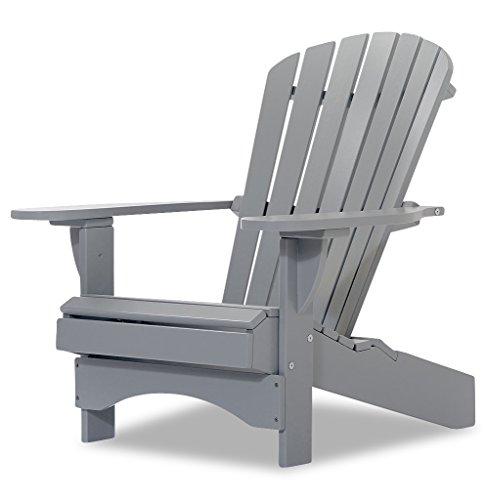 Original Dream-Chairs since 2007 - Adirondack Chair 'Comfort' de luxe in grau