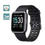 Arbily Smartwatch Fitness Armband Fitness Uhr Fitness Tracker für Damen Herren Kinder, Sportuhr mit Schrittzähler Pulsmesser Wasserdicht IP68 zum Schwimmen, Smart Watch für iOS Android Handy (Schwarz)