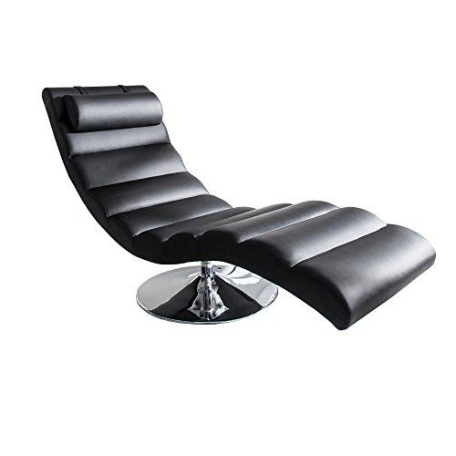 Moderne Design Liege RELAXO schwarz Sesselliege Sofaliege Polsterliege