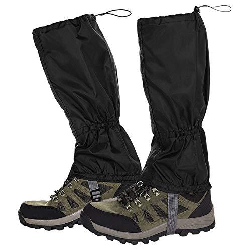 NATUCE Outdoor Gamaschen,Wasserdichte Einstellbare Gamaschen Atmungsaktive Beinschutz Gaiter für Outdoor-Hosen zum Wandern, Klettern,Trekking, Schneewandern