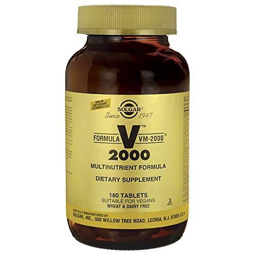 Solgar | VM 2000 | Multivitamin und -mineral | 180 vegane Tabletten | glutenfrei