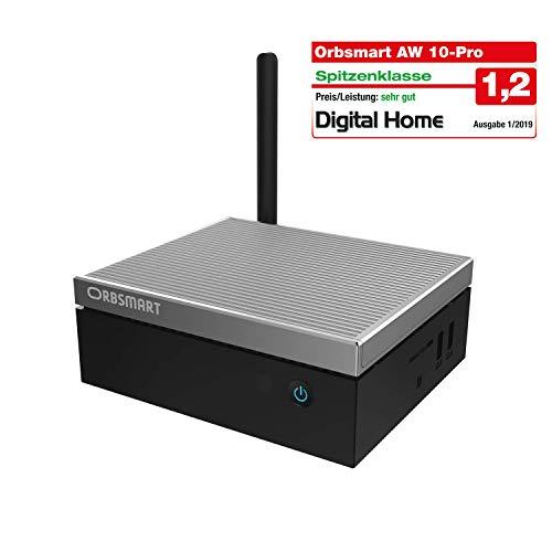 Orbsmart AW-10 Pro 4K Mini PC Windows 10 Pro Desktop PC/Computer (Intel Gemini Lake J4105 CPU, 4GB DDR4-RAM, 64GB int. Speicher, 2.5' Festplattenschacht, HDMI 2.0, USB 3.1 Typ-C)