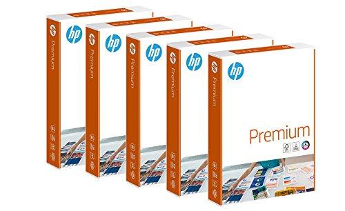 HP CHP 852 Premium Druckerpapier 90 g, DIN-A4, 2.500 Blatt, weiß, extraglatt, 5 Pack = 1 Karton