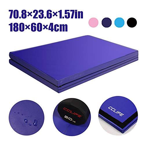 CCLIFE 180x60 Klappbare Weichbodenmatte Turnmatte Fitnessmatte Gymnastikmatte rutschfeste Farbauswahl Sportmatte Spielmatte