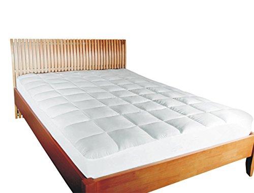 MESANA Premium Matratzenschoner Größe: 160x200 cm, Unterbett und Matratzenauflage auch für Ihr Boxspring-Bett und Wasserbett cm, weiß aus Soft Touch Topper Microfaser