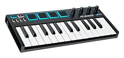 Alesis V Mini Kompaktes 25Tasten USB MIDI Produktions Keyboard Controller mit 4 pads, 4270° Potentiometer und Xpand!2 Virtual Instrument Software
