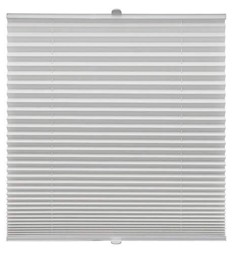 Plissee auf Maß verschiedene Farben für alle Fenster Montage in der Glasleiste Blickdicht mit Spannschuh Sonnenschutzrollo Fensterrollo Plissee Rollo Weiß Breite: 51-60 cm, Höhe: 40-100 cm