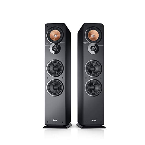 Teufel Ultima 40 Modell Schwarz Stand-Lautsprecher Sound Bassreflex 3-Wege FLAC HiFi Hochtöner Lautsprecher High End HiFi Speaker