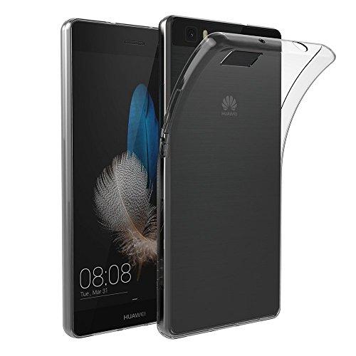 Huawei P8 Lite Hülle Case, AICEK Ultra-Clear P8 Lite Case Silikon Soft TPU Crystal Clear Premium Durchsichtig Handyhülle Schutzhülle Case Backcover Bumper Slimcase für P8 Lite