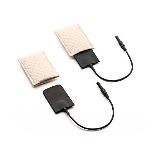 Saalio Achselelektroden 1 Paar aus Silikon mit Schwammtaschen für Leitungswasser-Iontophorese gegen Achselschweiß