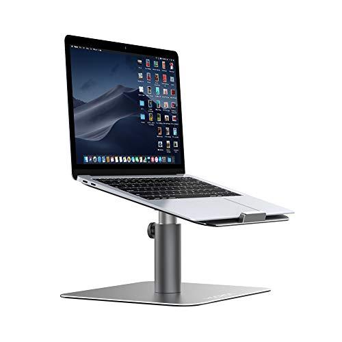 Yoozon Laptop Ständer, Multi-Winkel 360°Höhenverstellbar Notebook Ständer Universal Haterung für Apple Macbook,Tablet, Dell, HP, Samsung, Lenovo und alle 9-17 Zoll Notebooks (Silbergrau)