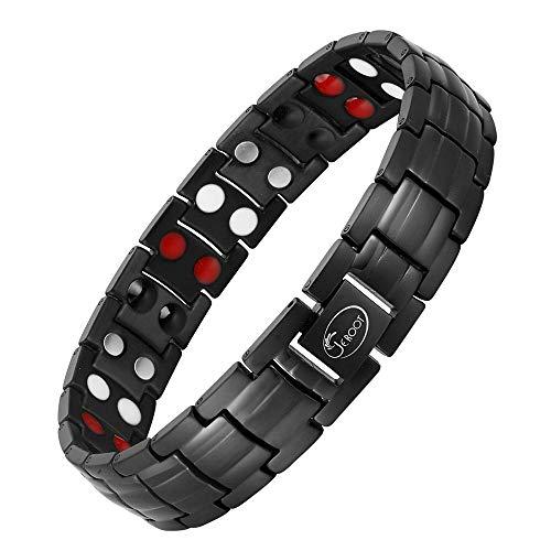 Jeroot Titan Magnetarmband,Herren Magnetische Armbänder für Arthritis Verschluss Armband Magnet Herren Gesundheit zur Schmerzlinderung Magnetarmband