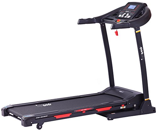 SportPlus Profi Laufband, 16km/h, 12% Steigung elektrisch, 24 Programme, Smartphone APP Steuerung, Tablethalterung, schneller Aufbau, Laufgerät klappbar - Laufmaschine ist Sicherheit geprüft, SP-TM-4216-E