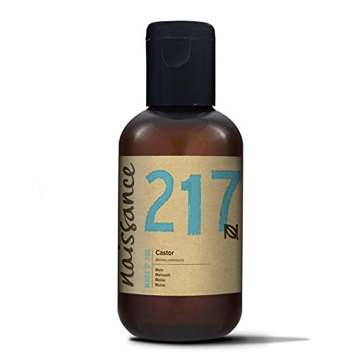 Naissance kaltgepresstes Rizinusöl 100ml - reines, natürliches, veganes, hexanfreies, gentechnikfreies Öl - pflegt und spendet Feuchtigkeit für Haare, Wimpern und Augenbrauen