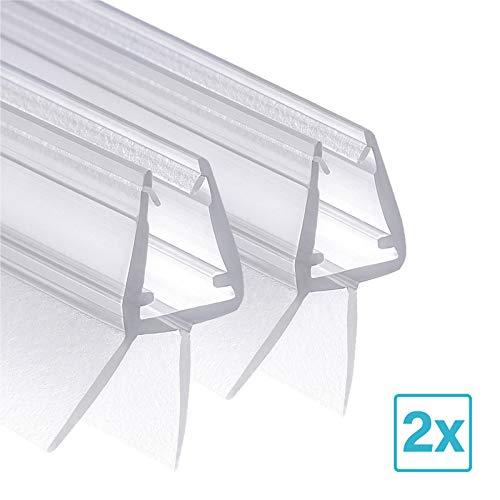 Wellba Duschkabinen Dichtung für Glasstärken von 6mm 7mm oder 8mm für Duschtüren & Glastüren - Ersatz-Dichtung Duschdichtung Gummilippe Wasserabweiser - Universell Einsetzbar (2 x 80CM)