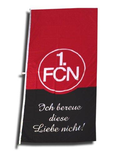 1. FC Nürnberg FCN Hissfahne Fahne 120cm x 250cm Fanaktion 'Ich bereue diese Liebe nicht'