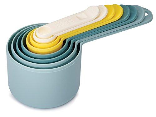 Joseph Joseph 40077 Nest Measure Opal Messbecher Set mit 8 Größen Kunststoff 17,3 x 7,7 x 8 cm 8 Einheiten, opalfarben