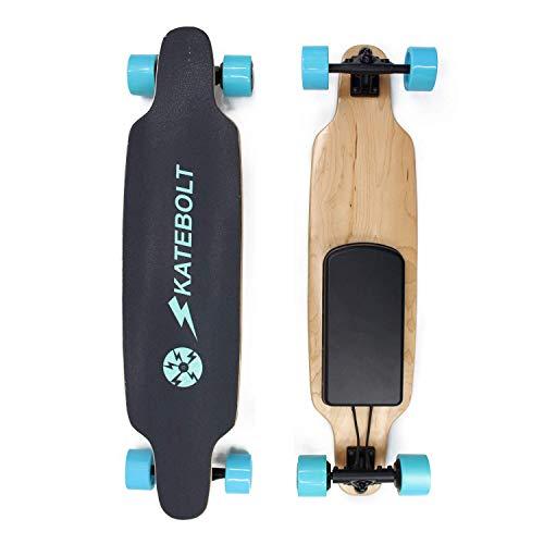 Skatebolt Breeze Elektrisches Skateboard mit Fernbedienung, Integrierte Akku Dual Motor, 22 km Reichweite, bis zu 30km/h, Ahornholz Deck, 90A Räder, für Jugendliche Erwachsene