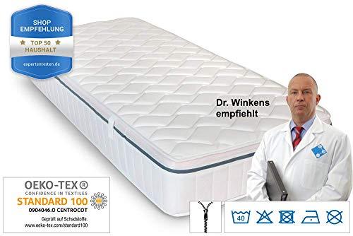 Ortho Relax Matratze 90x200cm, 23cm Höhe, H3, 7-Zonen-Spezial-Komfortschaum-Matratze, patentierte Luftkanaltechnik