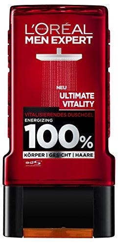 L'Oreal Men Expert Duschgel, Ultimate Vitality Körperpflege, 3 x 300 ml