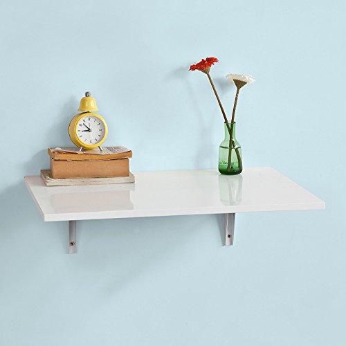 SoBuy FWT21-W Wandklapptisch Klapptisch Esstisch Küchentisch aus MDF weiß (60x40cm)