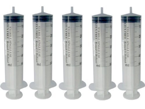 5 Einmalspritzen 50 ml Einwegspritzen Spritzen Plastikspritzen von Romed