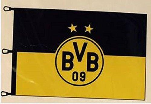 BVB 15131000 Hissfahne 150x100cm mit Logo, Schwarz/Gelb, 150 x 100 x 1 cm