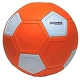Kickerball - Der Ball der IMMER eine Kurve fliegt – spiele wie die Profis und triff wie die Profis – besondere aerodynamische Form – Größe Ø ca. 22 cm (4-5) – Fussball – Ball – Trickshot – Tor