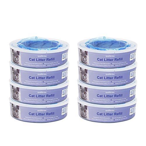 Signstek Katzen Nachfüllkassette für Litter Locker II - Cat Litter Disposal System Nachfüllkassetten EINWEG (8er Pack)