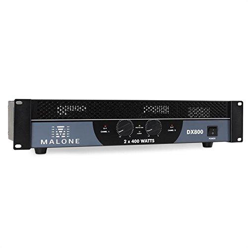 Malone DX800 2.0 Show/Bühne, kabelgebunden, schwarz, Audio-Verstärker (2.0 Kanäle, 0,1 %, 90 dB, 400 W, 240 W, 800 W)