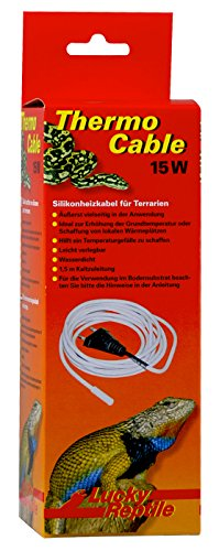 Lucky Reptile HTC-15 Thermo Cable 15 W, 3.8 m, Heizkabel für Terrarien