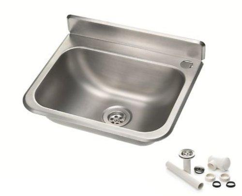 Handwaschbecken Waschbecken Becken aus Chrom-Nickel-Stahl / Edelstahl 37,5 x 33,0 cm *Neu*