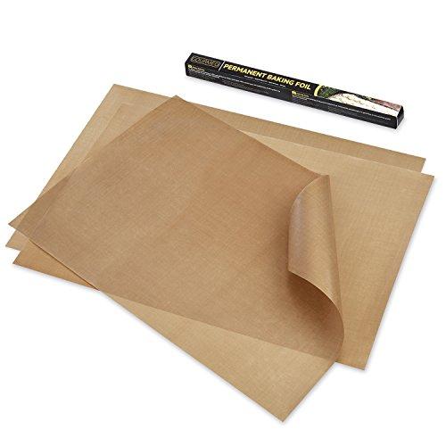 GOURMEO Dauerbackfolie (3er Set, 36 x 42 cm), einfach zuzuschneiden, spülmaschinenfest, umweltschonend, antihaftbeschichtet | 2 Jahre Zufriedenheitsgarantie | Dauerbackfolie, Backpapier wiederverwendbar