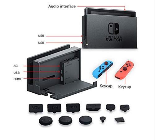 Schutz-Set für Nintendo Switch, Staub, Displayschutzfolie aus Hartglas