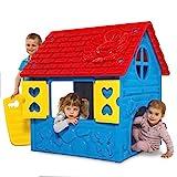 thorberg Spielhaus Kinderspielhaus blau-gelb-rot (Made in EU) Kinderhaus